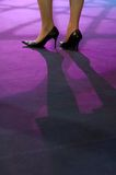 Women legs on podium Royalty Free Stock Photo