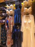 Women Lingerie Displayed on a mannequin for Sale in a Boutique Store royalty free stock photo