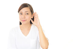 Women listen carefully Royalty Free Stock Photo