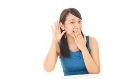 Women listen carefully Royalty Free Stock Image