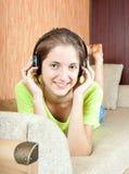 Women listening music Stock Photography