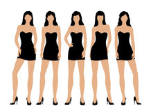 Women in little black dress Royalty Free Stock Photography