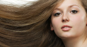 Women with long hair Royalty Free Stock Photos