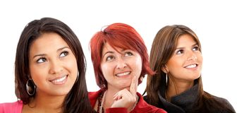 Women looking away Royalty Free Stock Images