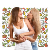 Women Looking For Christmas Gifts Royalty Free Stock Photos