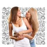 Women Looking For Christmas Gifts Royalty Free Stock Images