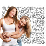 Women Looking For Christmas Gifts Stock Images