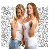 Women Looking For Christmas Gifts Royalty Free Stock Image