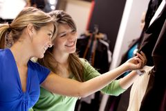 Women looking at clothes Royalty Free Stock Photo