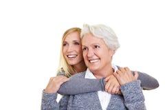 Women looking into future Royalty Free Stock Photos