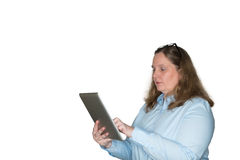 Women looking for information with the tablet Stock Photography