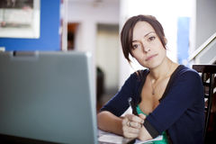 Women looking and listening Royalty Free Stock Photos