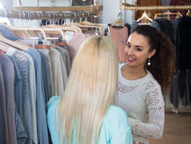 Women looking for new garments Stock Photo