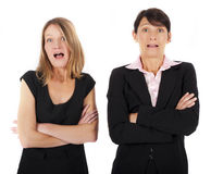 Women looking surprised Royalty Free Stock Images