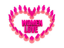 Women love. Stock Image