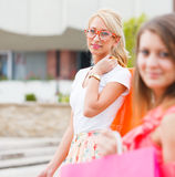 Women Love Shopping Stock Photos