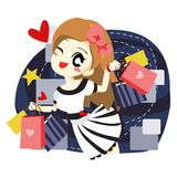 Women love to shopping - vector Stock Photography