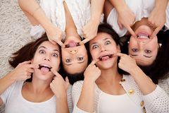 Women making faces Royalty Free Stock Photo