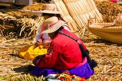 Women Making Handicrafts Royalty Free Stock Photo