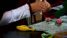 Women making jewellery Royalty Free Stock Photos