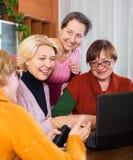 Women making site Royalty Free Stock Image
