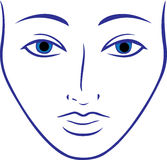 Women man human vector face shape vector illustrations clipping masks Stock Images