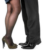 Women and man leg Royalty Free Stock Photography