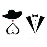 Women and man pretty icon illustration Stock Image