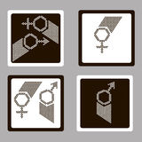 Women and man sign Stock Photography