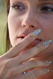 Women and manicure Royalty Free Stock Photos