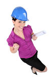 Women with map in hand Stock Image