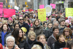 Women March in  Toronto. Royalty Free Stock Photography