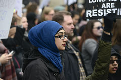 Women March in  Toronto. Stock Image