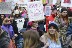 Women March in  Toronto. Stock Photography