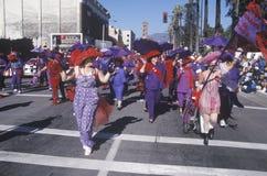 Women marching in the Doo Dah Parade, Pasadena, California Stock Images