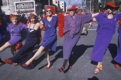 Women marching in the Doo Dah Parade, Pasadena, California Royalty Free Stock Image
