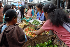 Women market in India Royalty Free Stock Photos