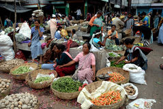 Women market in India Royalty Free Stock Photo