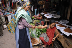 Women Market in India Royalty Free Stock Images