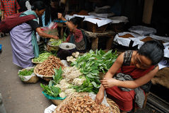 Women Market in India Stock Photo