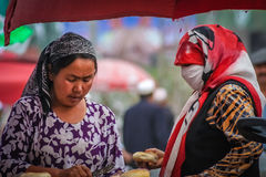 Women on market stock images