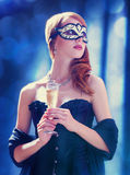 Women in mask Royalty Free Stock Photos