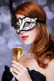 Women in mask Royalty Free Stock Images