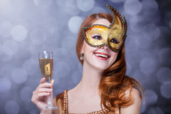 Women in mask Royalty Free Stock Photography