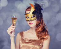 Women in mask Stock Images