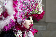 Women with mask at venice carnival Royalty Free Stock Photo