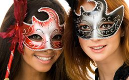 Women in masks Stock Photo