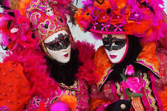 Women with masks at Venetian Carnival Royalty Free Stock Photo