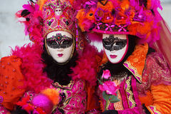 Women with masks at Venetian Carnival Stock Image
