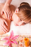Women massage body  in spa Royalty Free Stock Photos